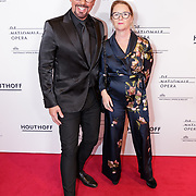 NLD/Amsterdam/20190118 - première The Gershwins' Porgy and Bess, Maik de Boer en directeur Nationaal Opera & Ballet Els van der Plas