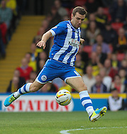 Picture by David Horn/Focus Images Ltd +44 7545 970036<br /> 28/09/2013<br /> James McArthur of Wigan Athletic during the Sky Bet Championship match at Vicarage Road, Watford.