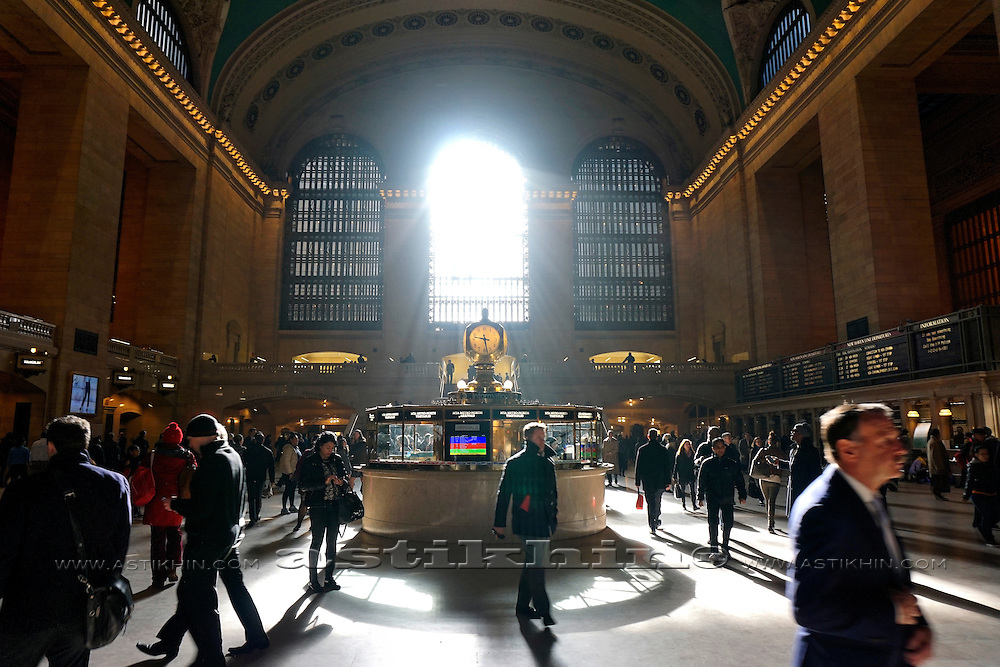 Morning in Grand Central Station, New York City.