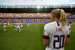 June 29, 2019 - Paris, ile de france, France - Allie Long (USA) watch her team mate attempted the quarter-final between FRANCE vs USA in the 2019 women's football World cup at Parc des Princes in Paris, on the 28 June 2019. (Credit Image: © Julien Mattia/NurPhoto via ZUMA Press)