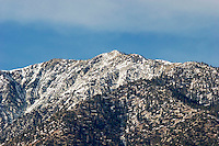 Wind Blown Snowy Peaks on Mount Baldy, Southern California