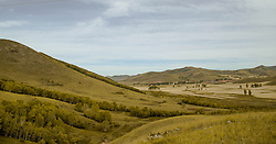 June 9, 2017 - Chengde, Chengde, China - Chengde, CHINA-June 9 2017: (EDITORIAL USE ONLY. CHINA OUT)..Autumn scenery of Bashang Grassland in Fengning County, Chengde, north China's Hebei Province. The Bashang Grassland is 280 kilometers north of Beijing. The special climate and the geographical position on the junction of the North China Plain and the Inner Mongolia Grassland give Bashang its unique natural landscapes and make it a popular destination for tourists and photographers. (Credit Image: © SIPA Asia via ZUMA Wire)
