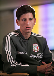 May 25, 2018 - Los Angeles, California, U.S - Jurgen Dumm of Mexico's World Cup squad responds to questions from journalists during Mexico Media Day on Friday May 25, 2018 in Beverly Hills, California ahead a pre-World Cup soccer friendly against Wales in Pasadena on May 28. (Credit Image: © Prensa Internacional via ZUMA Wire)