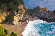 Evening light on McWay Cove and Waterfall, Julia Pfeiffer Burns State Park, Big Sur Coast, California