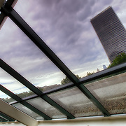 Inside The Link skywalk at Crown Center in Kansas City after a thunderstorm in August 2011.