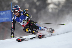 14.02.2013, Planai, Schladming, AUT, FIS Weltmeisterschaften Ski Alpin, Riesenslalom, Damen, 1. Durchgang, im Bild Mikaela Shiffrin (USA) // Mikaela Shiffrin of United States in action during 1st run of the ladies Giant Slalom at the FIS Ski World Championships 2013 at the Planai Course, Schladming, Austria on 2013/02/14. EXPA Pictures © 2013, PhotoCredit: EXPA/ Sammy Minkoff