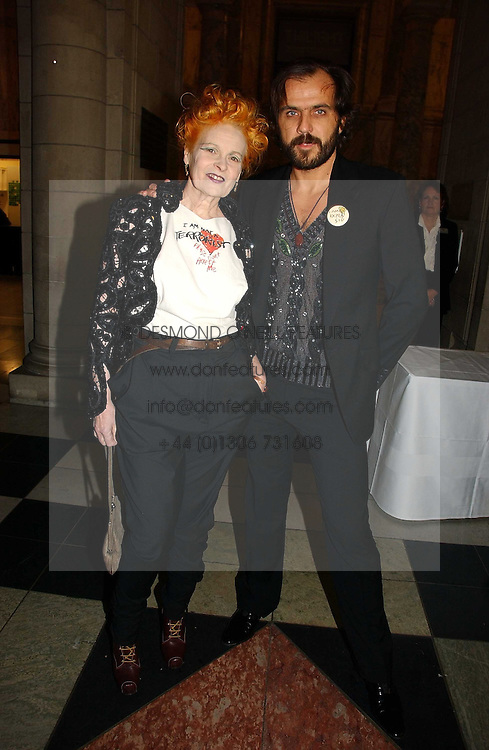 VIVIENNE WESTWOOD and her husband MR ANDREAS KRONTHALER at the British Fashion Awards 2006 sponsored by Swarovski held at the V&A Museum, Cromwell Road, London SW7 on 2nd November 2006.<br /><br />NON EXCLUSIVE - WORLD RIGHTS