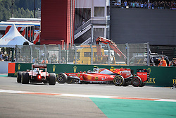 August 28, 2016 - Spa Francorchamps, Belgique - Spa  28/08/2016 GP F1 Belgique/Dimanche/Course/.Depart GP Belgique Vettel N°5 Ferrari-Raikkonen Accrochage (Credit Image: © Panoramic via ZUMA Press)