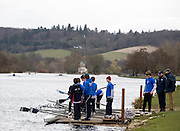 Henley, GREAT BRITAIN,  General View,  Bedford School Boating from the, Upper Thames RC, boating Pontoon, National Junior Sculling Head, Henley on Thames,   03/03/2008  2008. [Mandatory Credit, Peter Spurrier/Intersport-images] Rowing Courses, Henley Reach, Henley, ENGLAND