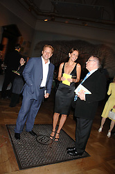 Left to right, DAVID ROSS, SAFFRON ALDRIDGE and LORD ARCHER at the Royal Academy of Arts Summer Exhibition Party at the Royal Academy, Piccadilly, London on 6th June 2007.<br />