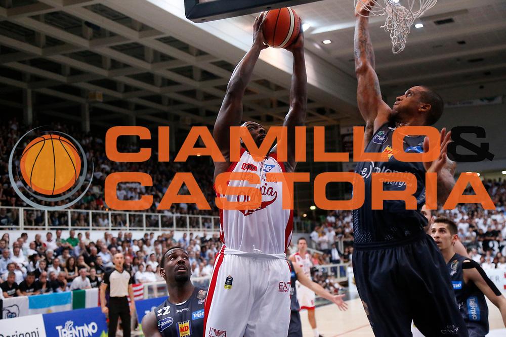 Sanders<br /> Dolomiti Energia Aquila Basket Trento - EA7 Emporio Armani Olimpia Milano<br /> Semifinale Gara 4, Lega Basket Serie A 2016/2017<br /> PalaTrento 31/05/2017<br /> Foto Ciamillo-Castoria / M.Brondi