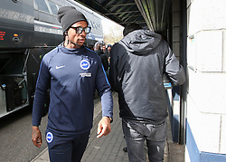Gaetan Bong of Brighton and Hove Albion steps off the coach - Mandatory by-line: Arron Gent/JMP - 17/03/2019 - FOOTBALL - The Den - London, England - Millwall v Brighton and Hove Albion - Emirates FA Cup Quarter Final