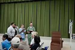 USA,Port Sulphur, 2010-08-28, NO COST-FREE CLINIC.                                  <br /> <br /> * En_Free Medical Clinic for America's Uninsured Residents.National Association of Free ClinicsDoctors donating their time at an improvised medical clinic have treated uninsured people free of charge.                                                                                                          <br /> <br /> * CZ_Dobrovolnici-lekari a dobrovolnici z rad mediku a obcanu pomahaji lidem kteri nemaji zdravotni pojisteni, at jiz z duvodu kdy si ho nemohou dovolit, nebo ho nechteji. Viz reportaz v Hospodarskych novinach -Magazin Vikend c.48/2010 anebo .tyzden c.43/2010