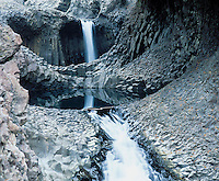 Waterfall in canyon