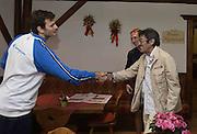 DESCRIZIONE : Folgaria ritiro nazionale italiana maschile - Allenamento<br /> GIOCATORE : Stefano Gentile Mario De Sisti<br /> CATEGORIA : nazionale maschile senior A <br /> GARA : Folgaria ritiro nazionale italiana maschile - Allenamento <br /> DATA : 02/07/2014 <br /> AUTORE : Agenzia Ciamillo-Castoria