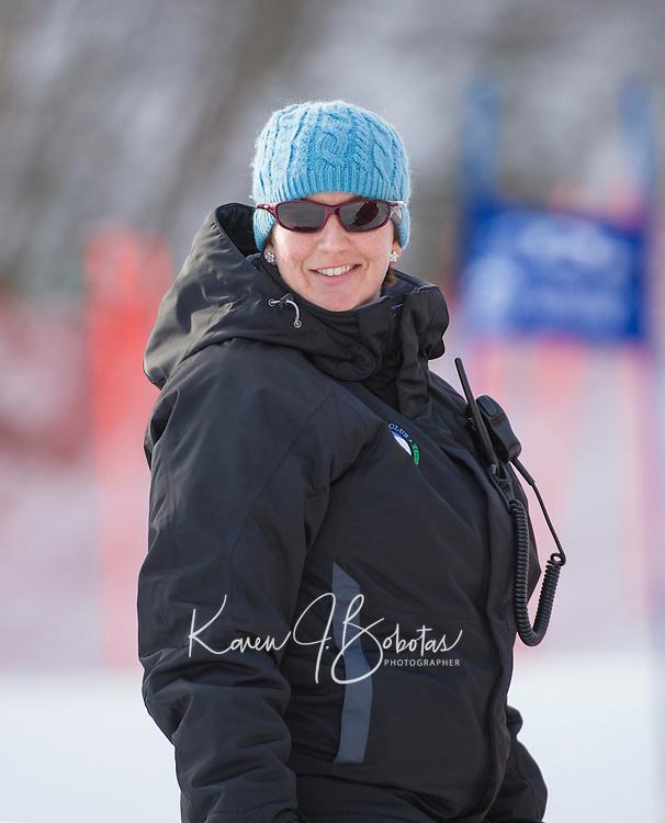 Gunstock Ski Club's Gus Pitou Memorial giant slalom Sunday, January 12, 2014.   ©2014 Karen Bobotas Photographer