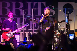 © Licensed to London News Pictures. 18/02/2014. London, UK. Singer songwriter Conor Maynard performing at Brooklyn Bowl at The O2 Arena as part of Brits Week, building up to the Brit Awards 2014 due to take place at the same world famous venue on Wednesday night. Maynard rose to success in 2012 when he was nominated for, and subsequently won, MTV's Brand New for 2012 award. Photo credit : David Fearn/LNP