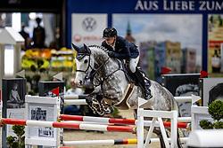 KRIEG Niklas (GER), Quater past<br /> Grand Prix von Volkswagen<br /> Int. jumping competition over two rounds (1.55 m) - CSI3*<br /> Comp. counts for the LONGINES Rankings<br /> Braunschweig - Classico 2020<br /> 08. März 2020<br /> © www.sportfotos-lafrentz.de/Stefan Lafrentz