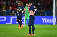 Deception Ezequiel LAVEZZI - 15.04.2015 - Paris Saint Germain / Barcelone - 1/4Finale Aller Champions League<br />