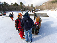 Annual Ice harvest at Rockywald Deephaven Camp on Squam Lake.  Karen Bobotas for the Laconia Daily Sun