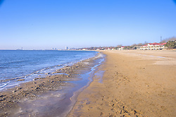 June 1, 2017 - Qinhuangdao, Qinhuangdao, China - The Beidaihe Beach Resort, stretching 10 km from east to west in Qinhuangdao, north China's Hebei Province, attracts visitors from throughout China. (Credit Image: © SIPA Asia via ZUMA Wire)