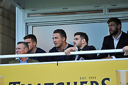 New Bath arrival Sam Burgess watches the match from the stand with George Ford, Rob Webber and Dave Attwood - Photo mandatory by-line: Patrick Khachfe/JMP - Mobile: 07966 386802 01/11/2014 - SPORT - RUGBY UNION - Bath - The Recreation Ground - Bath Rugby v London Welsh - LV= Cup
