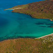 Aerial view of the Coast of Loreto. Baja California Sur. Mexico.