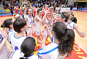DESCRIZIONE : Torneo di Schio - Italia vs Russia  <br /> GIOCATORE : esultanza italia<br /> CATEGORIA : nazionale femminile senior A <br /> GARA : Torneo di Schio - Italia vs Russia<br /> DATA : 28/12/2014 <br /> AUTORE : Agenzia Ciamillo-Castoria