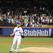 Pitcher Tyler Clippard, New York Mets, celebrates after striking out the Washington Nationals in the ninth inning for a Mets 5-2 win during the New York Mets Vs Washington Nationals MLB regular season baseball game at Citi Field, Queens, New York. USA. 2nd August 2015. Photo Tim Clayton