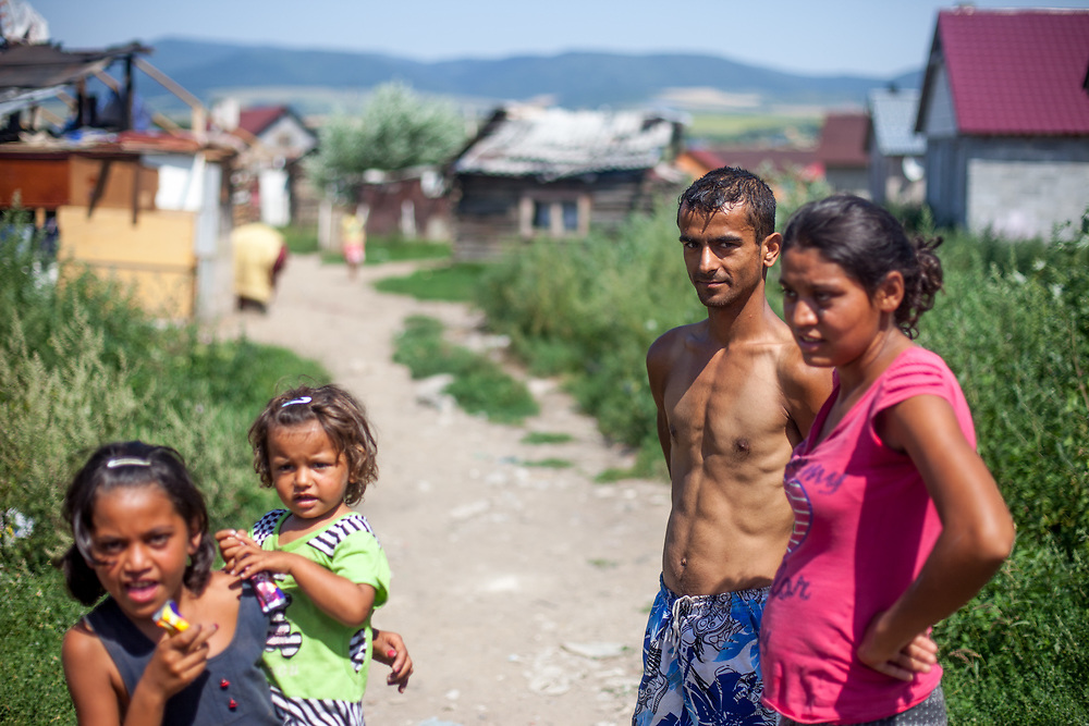 Ivan (26) and Klara (22) - both are residents at the Roma settlement and have two young children together. They belong to the socially weaker inhabitants in the settlement living in a small self built hut.