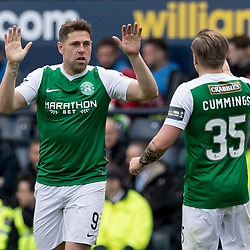 during the William Hill Scottish Cup semi-final between Hibernian and Aberdeen at Hampden Park Stadium on 22 April 2017.<br /> <br /> Picture: Alan Rennie