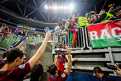 Team Portugal and fans during medal ceremony after the Final match of UEFA Futsal EURO 2018, on February 10, 2018 in Arena Stozice, Ljubljana, Slovenia. Photo by Ziga Zupan / Sportida