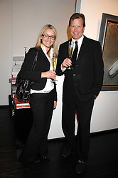 ALISON DRAKE and ANGUS RANKINE at a private view of paintings by Lita Cabellut and Russian artist Yuri Kuper at Opera Gallery, 134 New Bond Street, London on 2nd April 2008.<br />