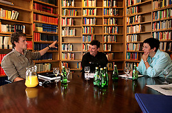 UK ENGLAND LONDON 10AUG07 - Arsenal goalkeeper Jens Lehmann (L), Welt interviewer Eckhard Fuhr (C) and academic Dr Christiane Eisenberg during photoshoot at the German Historical Institute in Bloomsbury, central London...jre/Photo by Jiri Rezac..© Jiri Rezac 2007..Contact: +44 (0) 7050 110 417.Mobile:  +44 (0) 7801 337 683.Office:  +44 (0) 20 8968 9635..Email:   jiri@jirirezac.com.Web:    www.jirirezac.com..© All images Jiri Rezac 2007 - All rights reserved.