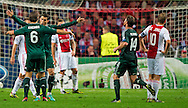 Real Madrid's  Cristiano Ronaldo celebrates his second goal reacts during the UEFA Champions League Group D football match Ajax Amsterdam vs Real Madrid on October 3, 2012 AFP PHOTO/ ROBIN UTRECHT.