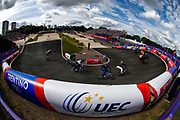 Illustration, General view, BMX Finals during the Cycling European Championships Glasgow 2018, at Glasgow BMX Centre, in Glasgow, Great Britain, Day 9, on August 10, 2018 - Photo luca Bettini / BettiniPhoto / ProSportsImages / DPPI<br /> - Restriction / Netherlands out, Belgium out, Spain out, Italy out -
