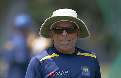 October 26, 2018 - Colombo, Sri Lanka - Sri Lanka cricket team's head coach Chandika Hathurusingha during a net practice session ahead of the only Twenty-20 cricket match  between Sri Lankan and England at R Premadasa International Cricket ground, Colombo, Sri Lanka.10-26-2018  (Credit Image: © Tharaka Basnayaka/NurPhoto via ZUMA Press)