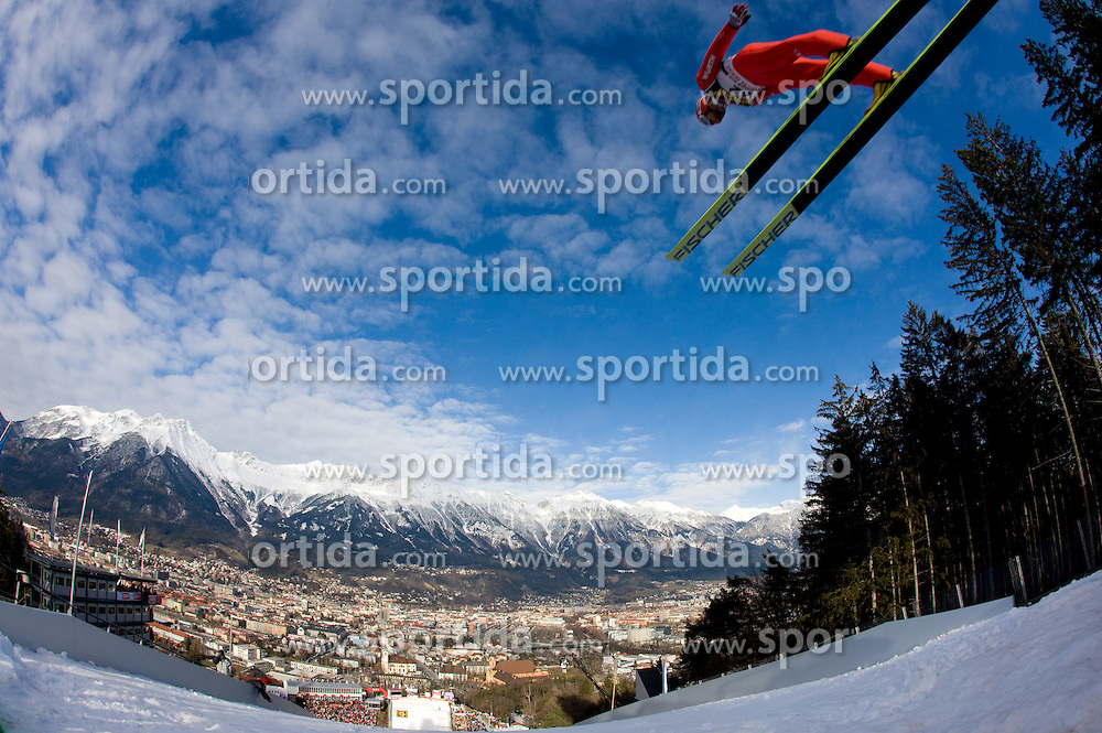 Michael Uhrmann of Germany competes during Qualification round of the FIS Ski Jumping World Cup event of the 58th Four Hills ski jumping tournament, on January 3, 2010 in Bergisel, Innsbruck, Austria.(Photo by Vid Ponikvar / Sportida)