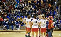 ROTTERDAM -  MOP tijdens de  finale zaalhockey om het Nederlands kampioenschap tussen de  vrouwen  van Amsterdam en MOP.  Amsterdam wint de finale en dus het Kampioenschap.ANP KOEN SUYK