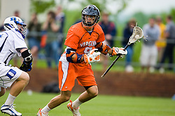Virginia attackman Danny Glading (9) in action against Duke.  The #2 ranked Duke Blue Devils defeated the #3 ranked Virginia Cavaliers 11-9 in the finals of the Men's 2008 Atlantic Coast Conference tournament at the University of Virginia's Klockner Stadium in Charlottesville, VA on April 27, 2008.