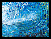 """Wave 02"" -  30x40 inches, Acrylic on canvas."