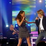 NLD/Weesp/20070312 - 2e Live uitzending Just the Two of Us 2007, Peggy Jane de Schepper en Thomas Berge optreden