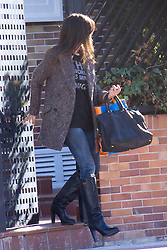 Sara Carbonero, sports journalist and girlfriend of soccer player of Real Madrid, Iker Casillas, leaves home, Madrid, Spain, November 28, 2012. Photo by Ivan L. Naughty / DyD Fotografos / i-Images...SPAIN OUT