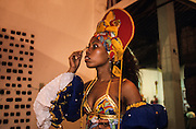 "The preparations for the Carnival begin many months before the event as elaborate costumes are designed and produced over a period of months. Maracatù naçao celebrates the ""King of Congo"" and the ""Queen of Angola"" a old slaves tradition. Maracatù groups, unique to Pernambuco, are mainly black and wear bright costumes."