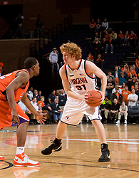 Virginia forward Andy Burns (31) in action against Clemson.  The Virginia Cavaliers men's basketball team fell the Clemson Tigers at 82-51 the John Paul Jones Arena in Charlottesville, VA on February 7, 2008.