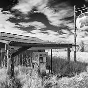 Roadside Gas Station - Skokomish Valley - Infrared Black & White