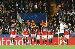 November 5, 2019, Valencia, Valencia, Spain: Losc Lille players celebrates the goal of Victor James Osimhen of Losc Lille during the during the UEFA Champions League group H match between Valencia CF and Losc Lille at Estadio de Mestalla on November 5, 2019 in Valencia, Spain (Credit Image: © AFP7 via ZUMA Wire)