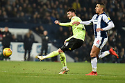 Sheffield United forward (on loan from Cardiff City) Gary Madine (14) takes a shot at goal during the EFL Sky Bet Championship match between West Bromwich Albion and Sheffield United at The Hawthorns, West Bromwich, England on 23 February 2019.