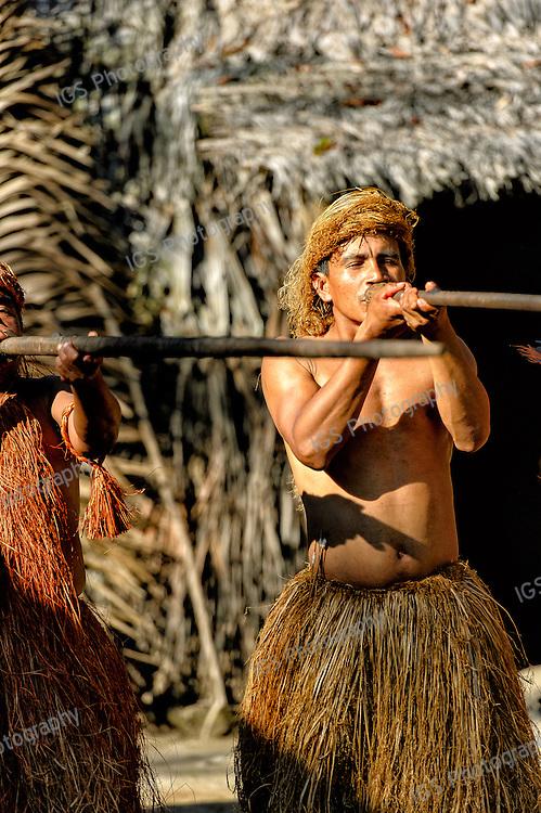 Yagua Indian Men with blowguns