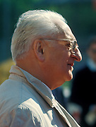 Commendatore Enzo Ferrari, creator of the Ferrari racing cars.